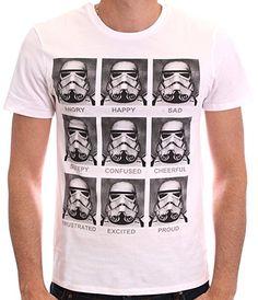 Star Wars Herren T-Shirt, mit Print weiß
