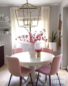 Best Retro home decor ideas - Super clever images. retro home decor ideas living spaces wonderful example ref 7910499674 posted on this day 20190324 Dining Room Design, Dining Room Chairs, Interior Design Living Room, Living Room Decor, Dining Rooms, Dining Tables, Room Interior, Pink Home Decor, Retro Home Decor