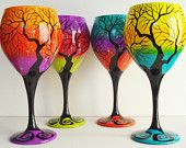 Heidi check these out! beautiful hand painted #wine glasses by Becky Suriano