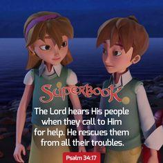 Superbook - Contact Us Psalm 34 17, Good Night, Enchanted, Psalms, Bible Verses, Mystery, Prayers, Diamonds, Lost