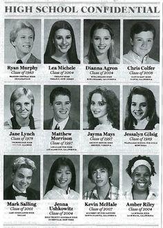 Matthew Morrison = totally cute in high school Mark Salling = totally...not. omg.
