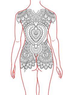 Lower Arm Tattoos, Full Back Tattoos, Full Body Tattoo, Mini Tattoos, Flower Tattoos, Tattoo Mandala Feminina, Mehndi Designs, Tattoo Designs, Henna Stencils