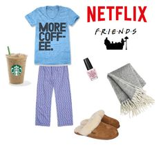 """My kind of Friday night"" by turtles222 ❤ liked on Polyvore featuring interior, interiors, interior design, home, home decor, interior decorating, Vineyard Vines, OPI and UGG Australia"