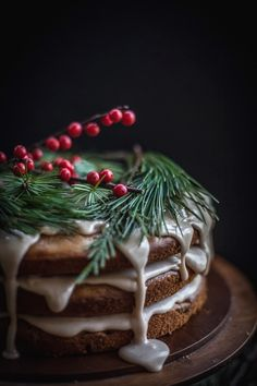 Date & Honey Cake with A Cinnamon Orange Glaze