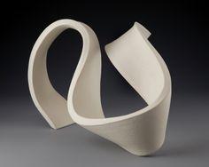 Abstract ceramic sculptures, ribbon sculptures, pure clay sculptures - Cri Kars-Marshall