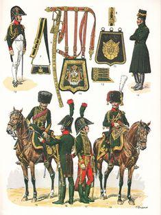 Ufficiali dei cacciatori a cavallo dei consoli e della guardia imperiale, 1800…
