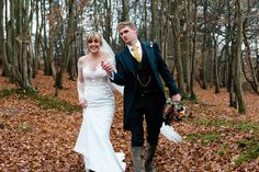 Bride and Groom from an Autumnal Barn Wedding In The Sussex Countryside. Images by Sarah Willliams Wedding Car, Farm Wedding, Wedding Dresses, Just Married, Getting Married, Autumn Wedding, Autumnal, Newlyweds, Bride Groom