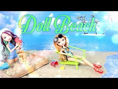 How to Make a Doll Beach - Doll Crafts - YouTube