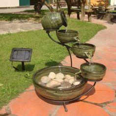 solar powered bird bath fountain