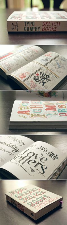 Typography Sketchbooks - Click image to find more Design Pinterest pins