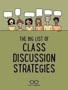 The Big List of Class Discussion Strategies & Cult of Pedagogy The Big List of [& The post The Big List of Class Discussion Strategies Instructional Coaching, Instructional Strategies, Teaching Strategies, Teaching Tips, Teaching Style, Teacher Tools, Teacher Resources, Leadership Activities, Group Activities