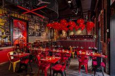 roy zsidai transforms ruin pub in budapest into spiler shanghai bistro - Bars- and Shops - Restaurant Bistro Interior, Restaurant Interior Design, Decor Interior Design, Chinese Interior, Shanghai, Restaurant Concept, Cafe Restaurant, Hotpot Restaurant, Restaurant Bar