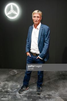 German actor Oliver Masucci attends the mbcollective Fashion Story - Chapter Two Global Launch at Soho House on July 2017 in Berlin, Germany. Get premium, high resolution news photos at Getty Images Launch Party, Fashion Story, German, Bomber Jacket, Product Launch, Actors, News, Jackets, Deutsch