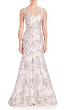 Theia | Printed Mermaid Gown | SAKS OFF 5TH