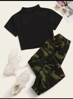 Girls Fashion Clothes, Teen Fashion Outfits, Swag Outfits, Retro Outfits, Cute Fashion, Fashion Ideas, Preteen Fashion, Rock Outfits, Fashion Black