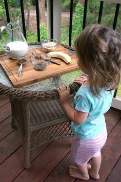 honey banana oat smoothie for kids- 1