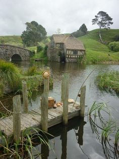 Doing a bit of fishing near our summer cottage.