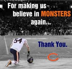 Thank you, Brian Urlacher #BrianUrlacher #Bears #Chicago