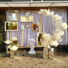 Image gallery – Page 845410161274941500 – Artofit Paper Flower Wall, Paper Flower Backdrop, Flower Decorations, Wedding Decorations, Crepe Paper Flowers Tutorial, Wedding Stage Design, Backdrop Design, Giant Paper Flowers, Deco Table