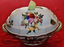Herend Rothschild De Porcelana Pintada Mão Terrina para sopa