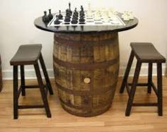 whiskey barrel coffee table - idea