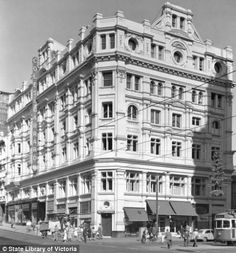 The Cromwell Buildings were a six storied brick building on the corner of Elizabeth and Bourke Streets, built in the early 1890s, and was home to the Melbourne School of Art and Nettleberg's Furriers. The building was sold to the Bank of Australasia in 1946 and demolished in the 1970s. It was replaced with an office block, which then gave way to a shopping centre