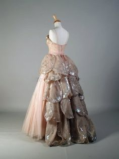 Evening Gown 1949, French, Made of silk and tulle