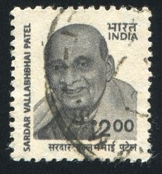 INDIA - CIRCA 2000: stamp printed by India, shows Vallabhbhai Patel (1875-1950), Deputy, Prime Minister of India, circa 2000.  Copyright: rook76