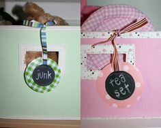 chalk cloth tags