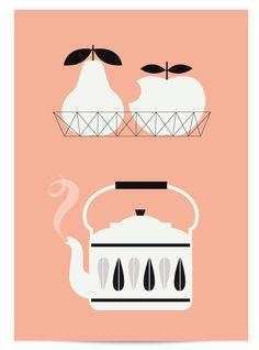 Affiche Thé & Fruits - Zü http://zushop.bigcartel.com/product/new-affichette-2-fleurs-perle