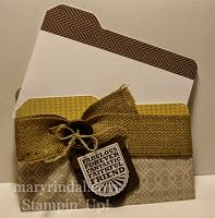 {scrap and stamp with mary}: File Folder Cards - Envelope Punch Board