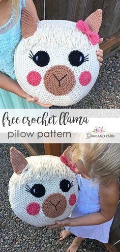 patterns free quick Free Crochet Llama Pillow Pattern Best Picture For Knitting Techniques sleeve For Your Taste You are looking for something, and it is going to tell you exactly what you ar Crochet Birds, Crochet For Kids, Easy Crochet, Free Crochet, Kids Pillows, Animal Pillows, Crochet Pillow Patterns Free, Free Pattern, Llama Pillow