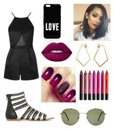 """""""Girls night out"""" by icemaoffical on Polyvore featuring Givenchy, Topshop, Forever 21, Dutch Basics, Lime Crime and Urban Decay"""