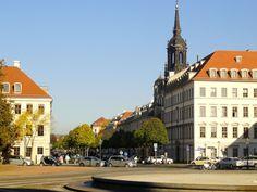 Palaisplatz im Barockviertel Dresden