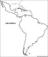 latin america map template | latin america outline map - group ...
