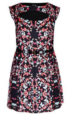 City Chic - BUTTERFLY BELLE TUNIC - Women's Plus Size Fashion