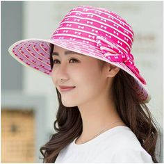 Womens bucket hat with bow for summer wide brim bucket hats