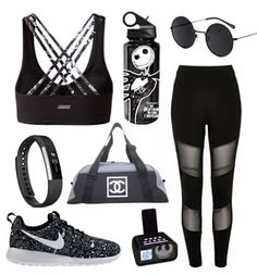 Activate summer with Disney workout style | Nightmare Before Christmas athletic fashion + accessories | [ https://style.disney.com/living/2016/06/20/disney-summer-workout-style/ ]