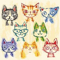 Many cats on Behance