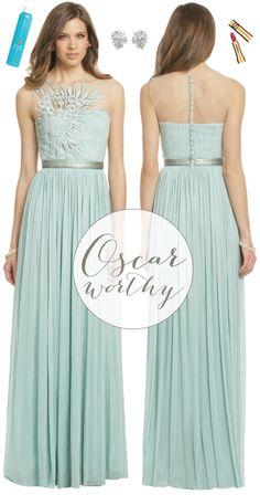 oscar-worthy fashion via {long distance loving} | http://www.longdistanceloving.net/2013/02/oscar-fashion-mint-green.html