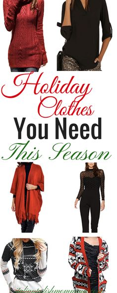 Womens Holiday outfits! Here are some of the cutest holiday tops for women this season! These clothes are perfect for those upcoming Christmas parties and events! Hottest holiday outfits this Christmas season! Shop online and get in no time! #ChristmasOutfits #HolidayOutfits #Holidayclothes #style #womensstyle