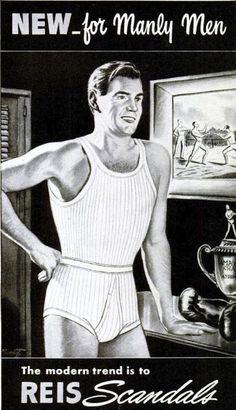 Collar men underwear blue strip to