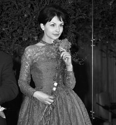 Teresa Tuszyńska at the premiere of Do widzenia,do jutra, 1960.