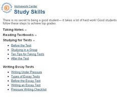 Romeo And Juliet Persuasive Essay Prepare Students For Success With These Study Skill Tips For Taking Notes  Reading Textbooks Information Technology Essay Topics also Your Life Experience Essay Webquest Homeworkorganizingstudy Skills  Things To Remember  Essay About Peace