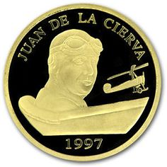 Moneda: 200 Euro (Tribute to the Spanish Aviation) (España) (2004~2014 - Juan Carlos I (Euro) - P. Numismático  Oro 999,9