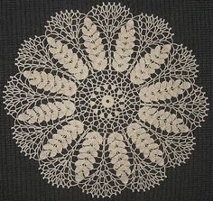 Lace wheat doily, free crochet pattern.