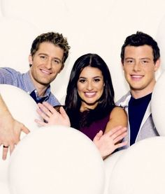 Matthew Morrison, Lea Michelle, and Cory Monteith.