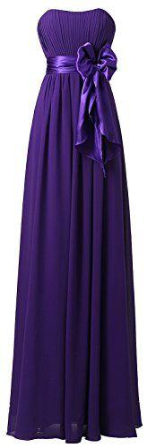 Ouman Sweetheart Bridesmaid Chiffon Prom Dresses Long Evening Gowns Purple 3XL