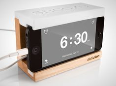 If you don't want to buy a new alarm clock, you could always pick up a unique stand for your smart phone.