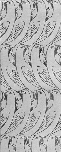 Charles Francis Annesley Voysey 1896 via The Textile Blog